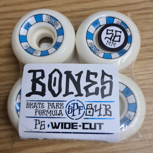 Bones 56mm SPF Wide Cut P5 Skateboard Wheels - White