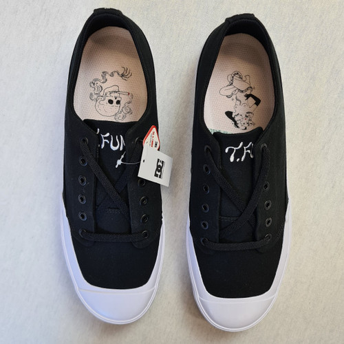 DC Shoes x T Funk - Low Shoe Converse Style - Black/White