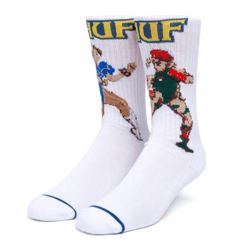 HUF x Street Fighter - Chun-Li and Cammy Socks - White