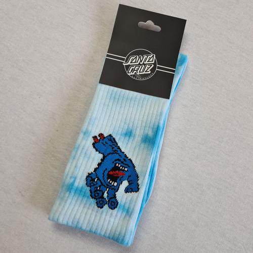 Santa Cruz  Screaming Hand - Blue Tie Dye Socks
