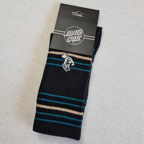Santa Cruz Mini Screaming Hand - Mono Black Socks