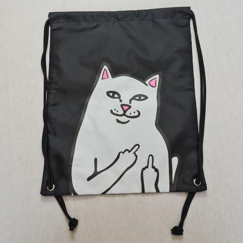 RIPNDIP Nermal Drawstring Bag - Black