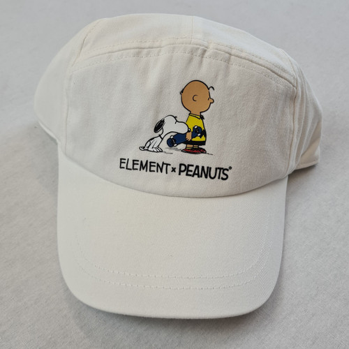 Element x Peanuts - Charlie Brown and Snoopy Pream Peanuts - Off White Snapback Cap