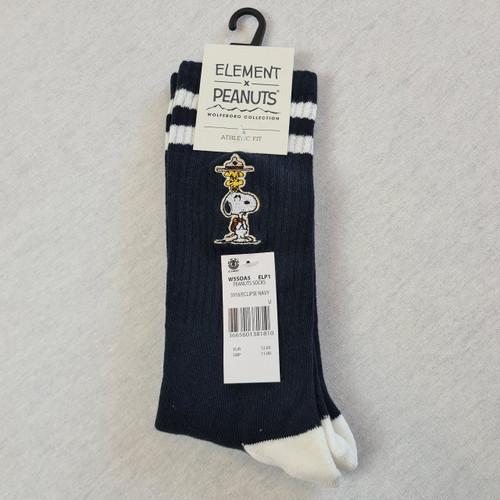 Element x Peanuts - Snoopy Peanuts Athletic Skate Socks - Black