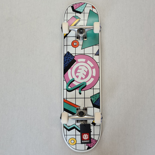 Element Off The Charts Skateboard Complete - White