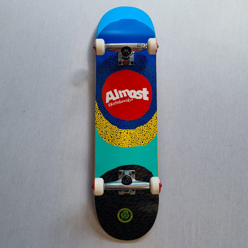 "Almost Radiate 8.25"" Premium Complete Skateboard - Blue/Red"