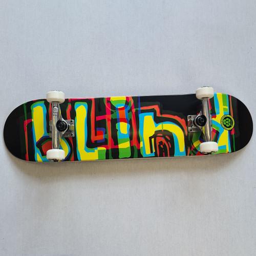 "Blind Logo Glitch 7.875"" Complete Skateboard - Multi Colored"