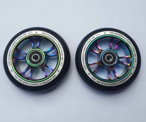 Blunt Envy 100mm Scooter Wheels - Pair - Black / Oil Slick