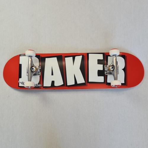 Baker Skateboards Logo Complete Skateboard Red/White - 8 Inch