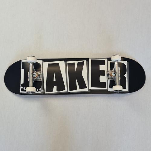 Baker Skateboards Logo Complete Skateboard Black/White - 8.25 Inch