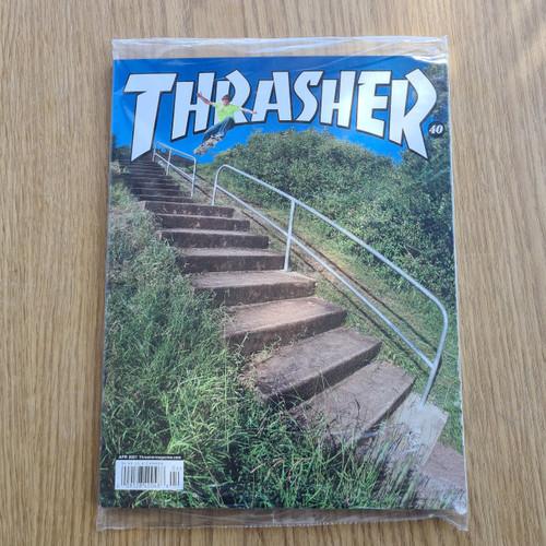Thrasher Skateboard Magazine April 2021 Edition - Free Stickers