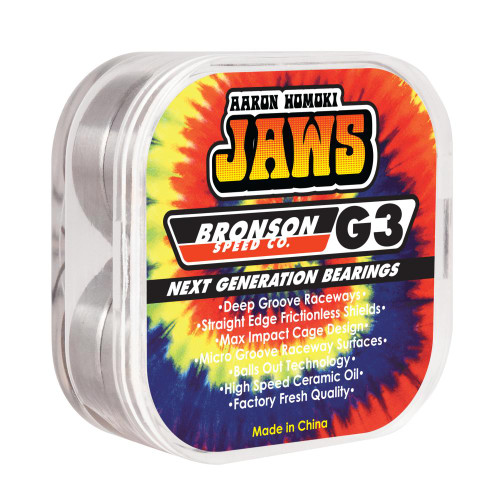 Bronson Speed Co Jaws Signiture Tue Dye Skateboard Bearings - Tye Die