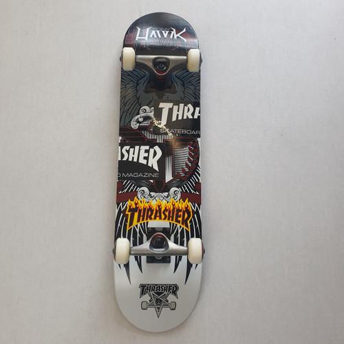 "Tony Hawk Complete 7.75"" Skateboard Setup - Thrasher Stickers"