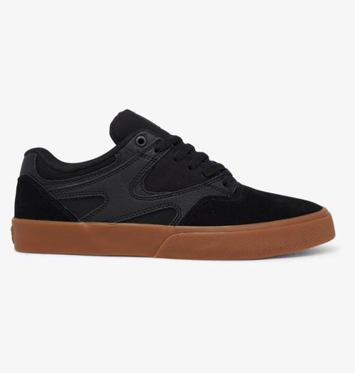 DC Kalis Vulc Skate Shoe - Black/Black/Gum