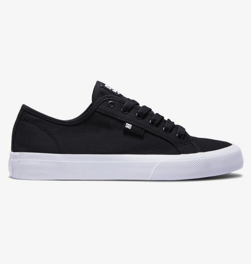 DC Manuel Skate Shoe- Black/White - Vegan Friendly
