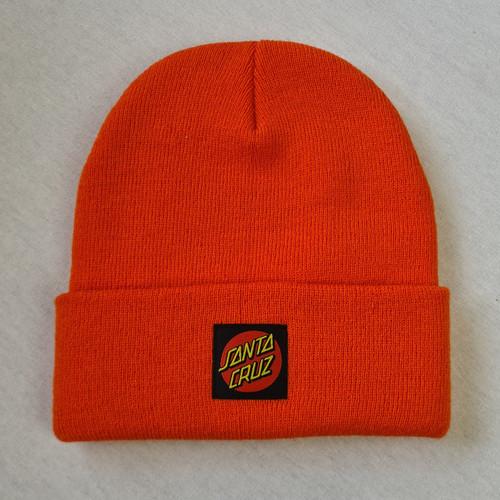 Santa Cruz Skateboards Dot Logo Beanie - Orange