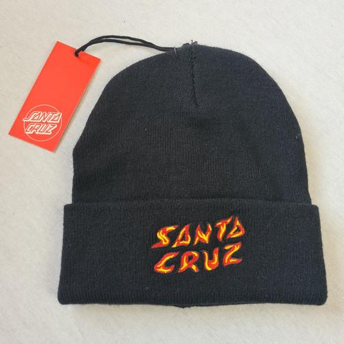 Santa Cruz Skateboards Flame Logo Beanie - Black