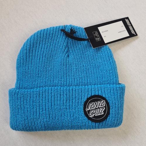 Santa Cruz Skateboards Mini Dot Logo Beanie - Blue