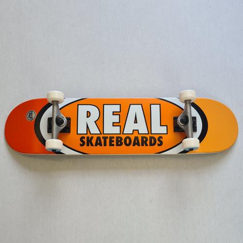 "REAL Skateboards 7.75"" Team Edition Oval Complete Board - Orange"