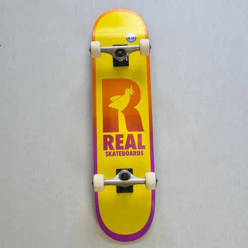 """REAL Skateboards  7.75"""" Be Free Complete Board - Yellow/Black"""