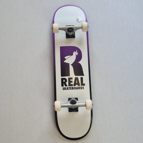 """REAL Skateboards  8.25"""" Be Free Complete Board - Purple/White"""