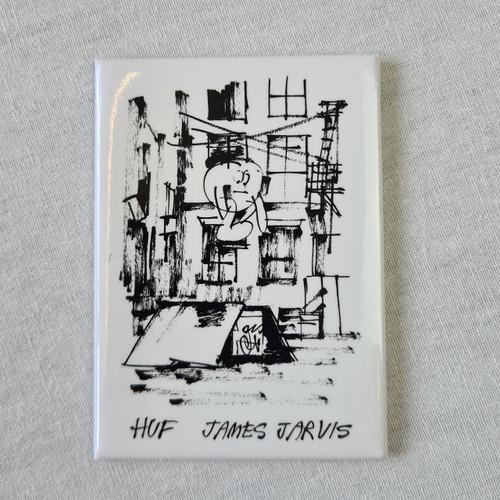 HUF x James Jarvis Magnet - White