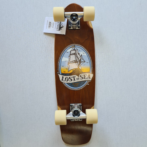 D street Cruiser Skateboard - Lost At Sea - Brown