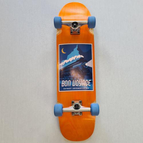 D street Cruiser Skateboard - Bon Voyage - Orange