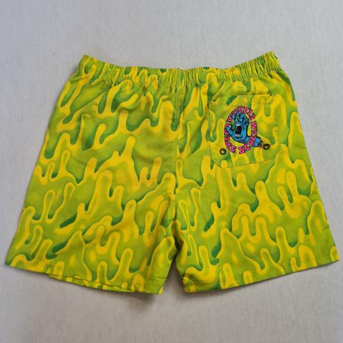 Santa Cruz Skateboards Slime Swim Shorts - Yellow/Green