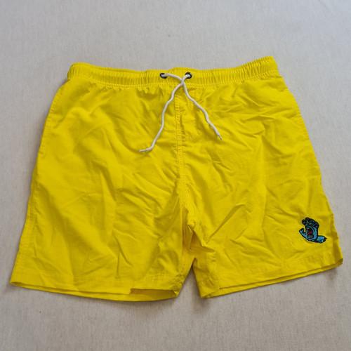Santa Cruz Skateboards Screaming Hand Swim Shorts - Yellow