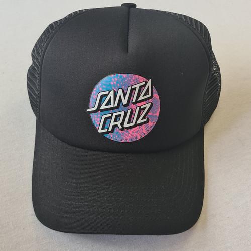 Santa Cruz Skateboards Scales Dot Logo Snapback Trucker Hat - Black