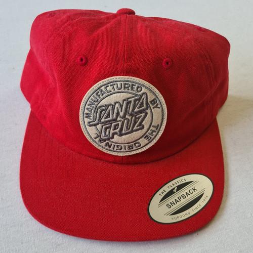 Santa Cruz Skateboards Origin Cap Strapback Hat - Red