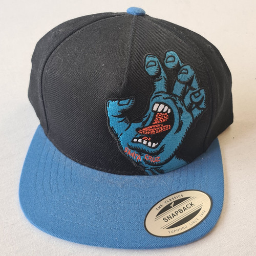 Santa Cruz Skateboards Screaming Hand Snapback Trucker Hat - Black