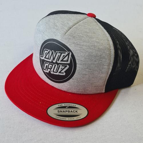 Santa Cruz Skateboards Dot Logo Snapback Hat - Grey
