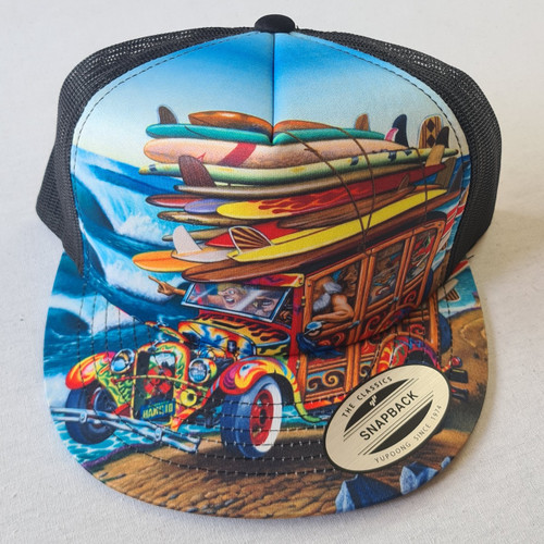 Santa Cruz Skateboards Philips Art Snapback Trucker Hat - Multi