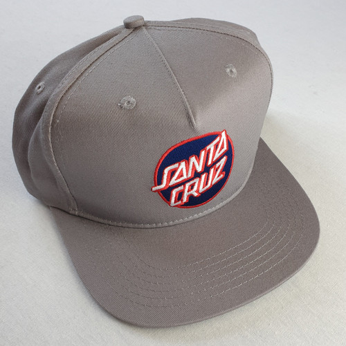 Santa Cruz Skateboards Dot Logo Snapback Hat - Grey/Blue