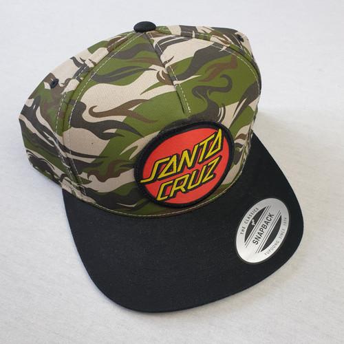 Santa Cruz Skateboards Dot Logo Snapback Hat - Camo
