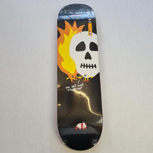 Enjoi Skateboards Skulls and Flames Deck 8.5 - Black and Orange