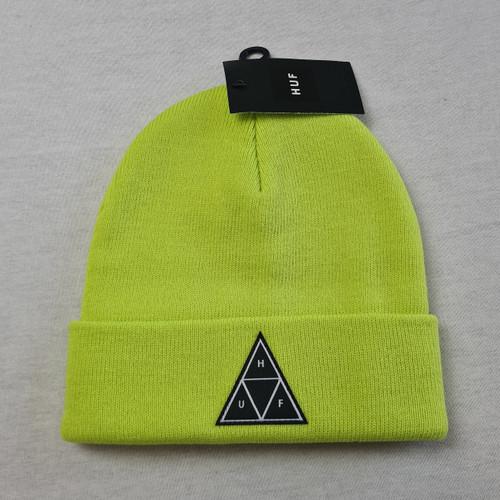 HUF Worldwide Triple Triangle Beanie - Lime