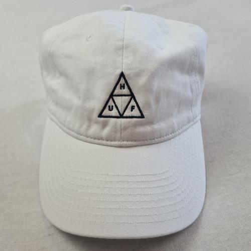 HUF Worldwide Triple Triangle Curved Peak Cap - White