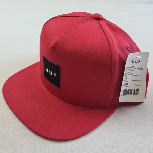 HUF Worldwide Box Logo Snapback Hat - Red