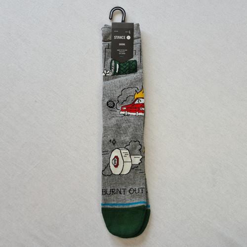 Stance Burnt Out Socks - Grey