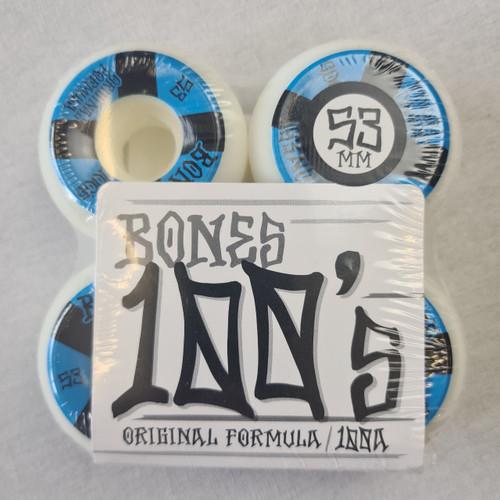 Bones 100's 100a Skateboard Wheels - 53mm