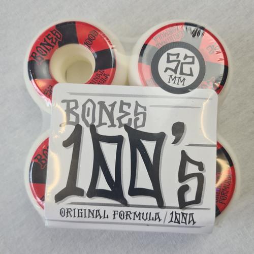Bones 100's 100a Skateboard Wheels - 52mm