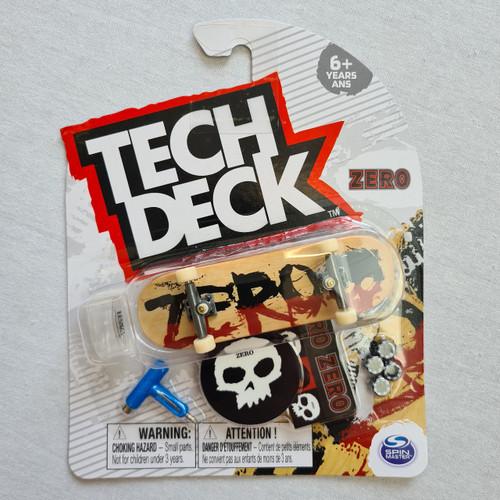 Tech Deck Finger Skateboard - Zero - Tan Logo