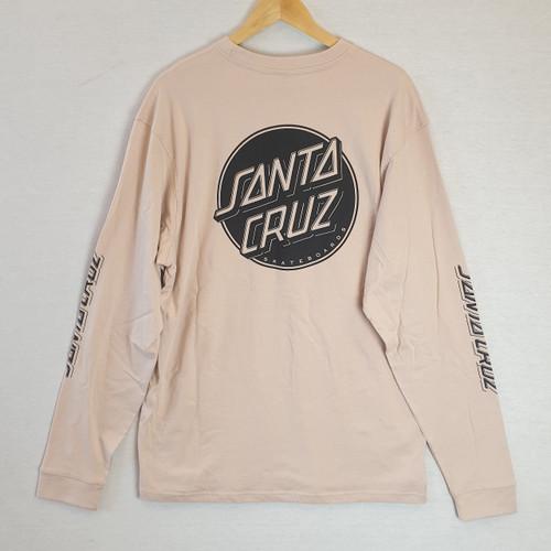 Santa Cruz Skateboards Opus Dot Long Sleeve Tee - Cream