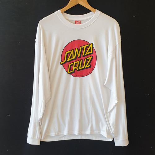 Santa Cruz Skateboards Dot Long Sleeve Tee - White