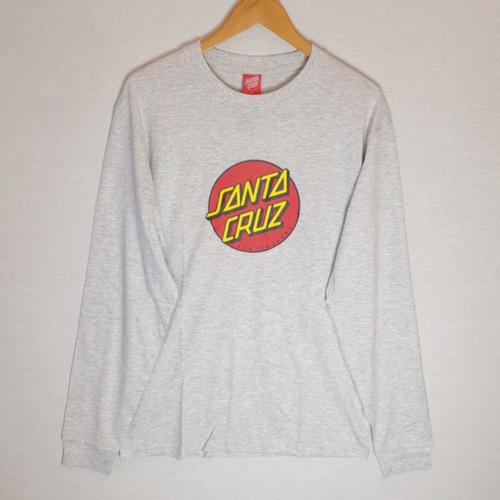 Santa Cruz Skateboards Dot Long Sleeve Tee - Grey
