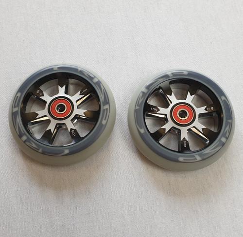 Crisp 110mm Hollowtech Wheels - Pair - Grey/Black/Silver