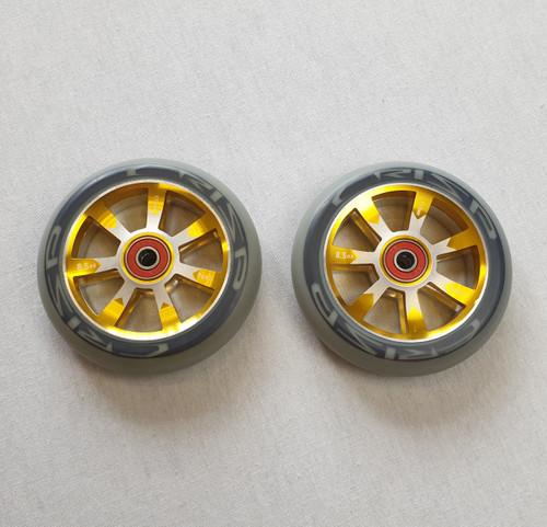 Crisp 110mm Hollowtech Wheels - Pair - Grey/Gold/Silver